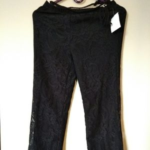 Black Lace lining pant
